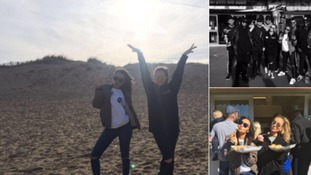 Little Mix enjoy a day out at South Shields beach