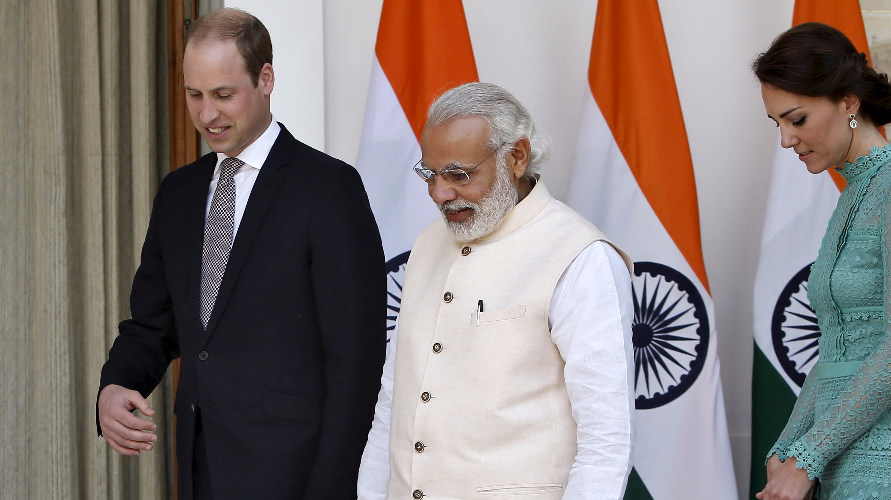 Prince William talks steel with Indian PM during visit