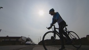 Leanne Owen in training for her 477-mile cycle challenge