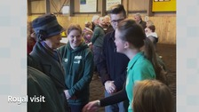 Princess Anne meeting members of Carlisle's Riding for the Disabled Association