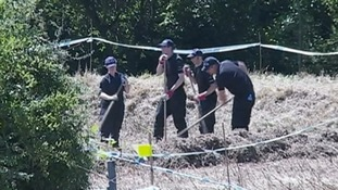 Essex Police investigating the crime scene in Colchester in 2014.