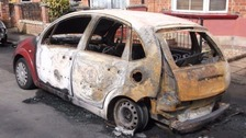 It is believed that a Citroen C3 was deliberately set alight in Haverhill.
