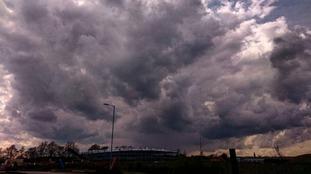 Ipswich storm clouds
