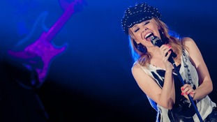 Kylie Minogue performing at the Hammersmith Apollo