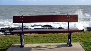 'Wrong way' seaside bench becomes 'world's first' selfie bench