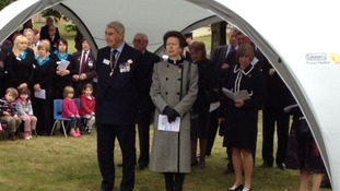 Princess Anne at Greenham Common