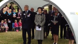 Princess Anne at Greenham Common