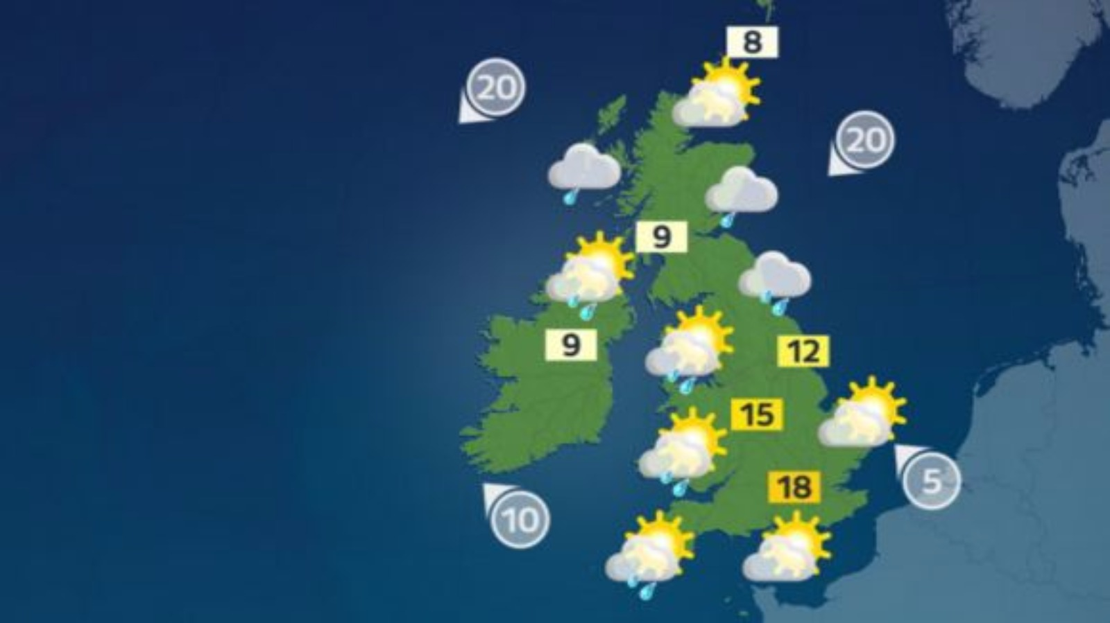 Weather: Largely dry day with plenty of sunshine