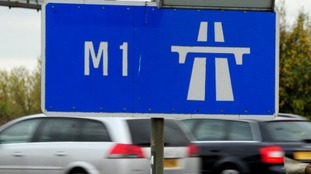 Lane closed on M1 Southbound in Northamptonshire
