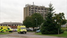 Ipswich Hospital maternity unit struck by lightning.