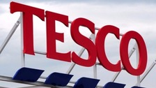 Tesco recorded its first sales growth in three years on Wednesday