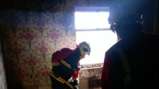 Scene of bedroom fire