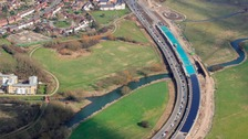 The new A138 Chelmer viaduct has opened in Chelmsford.