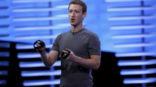 Facebook CEO Mark Zuckerberg speaks onstage at the F8 conference in San Francisco.