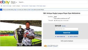 Former Castleford and Hull FC rugby player puts himself on eBay