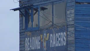 Reading Racers logo on building