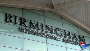 Terminal building at Birmingham International Airport