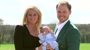 Masters champion Danny Willett with wife Nicole and baby boy Zach