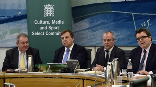 Tom Watson (far right) was on the Culture, Media and Sport Select Committee, chaired by John Whittingdale (second left).