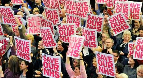 NHS workers rally