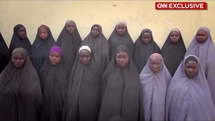 Chibok girls kidnapped by Boko Haram seen in 'proof of life' video