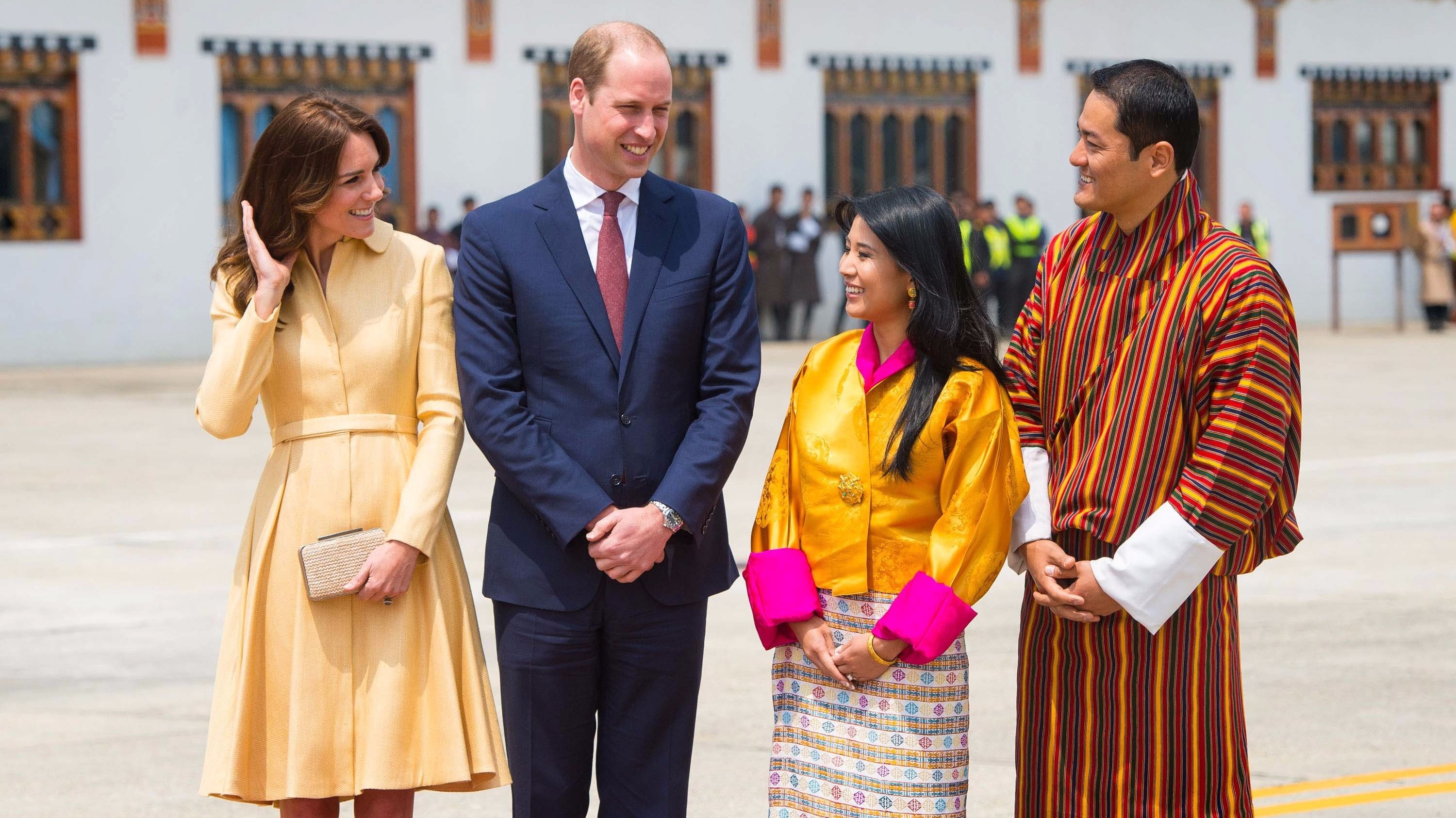 Duke and Duchess touch down in Bhutan