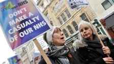 NHS cuts protest