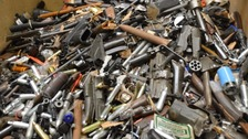 These weapons, seized prior to operation Kestrel 2, show the kind of weapons police are trying to take off the streets