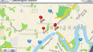 A search for Paddington Station in London brought up Paddington in Brisbane, Australia.