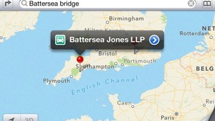 A search for Battersea Bridge in London brought up a law firm in Newton Abbot.
