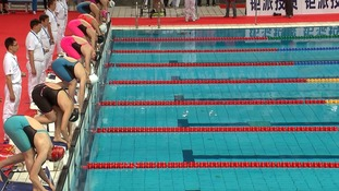 China swimming trials