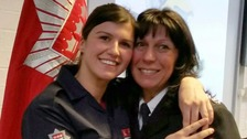 First mother and daughter to serve as firefighters.