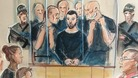 Court drawing shows Dale Cregan in the dock at Manchester City Magistrates' Court