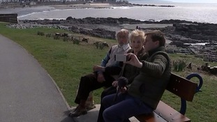 Self-styled 'selfie bench' bemuses tourists