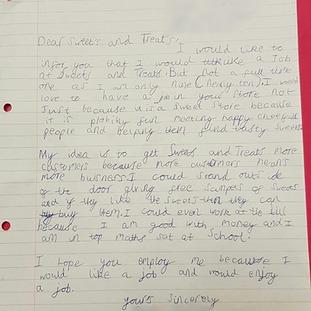 Ryan Dobson's letter