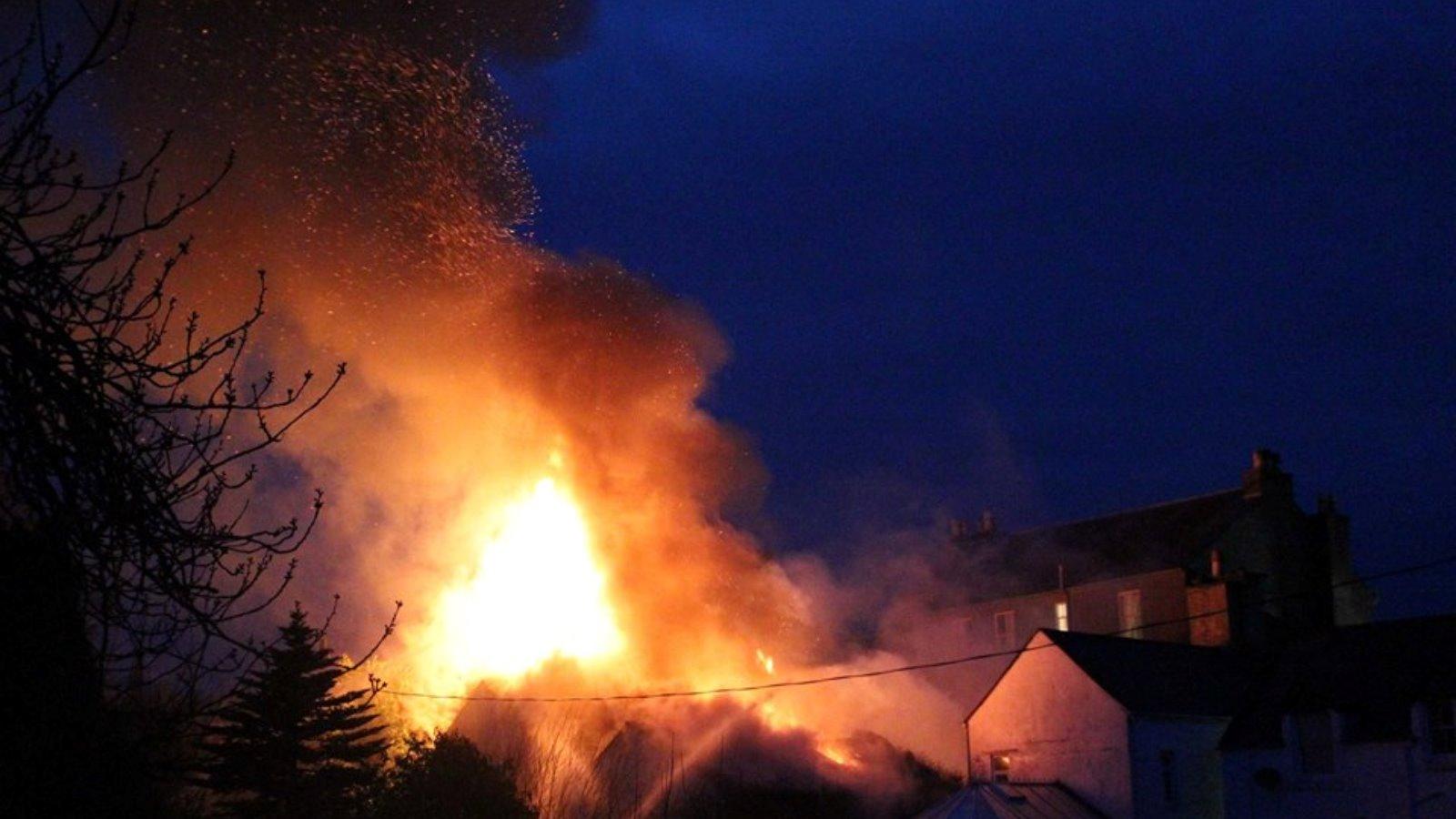 Major Fire At Hotel In Kirkcudbright