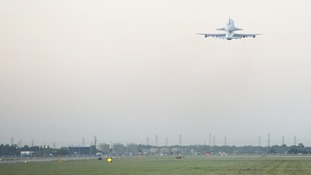 Endeavour Departs Ellington Field