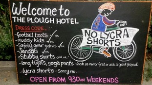 Cafe owner bans Lycra-clad cyclists