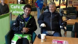 Guy Martin with Michael Bonney