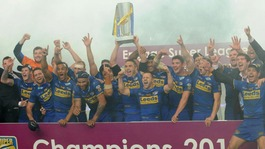 Leeds Rhinos celebrate winning 2011 Grand Final