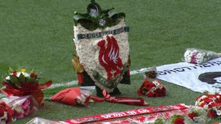 Flowers at Anfield
