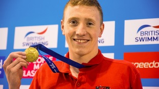 Max Litchfield wins gold in the Men's open 400m IM final during day three of the British Swimming Championships