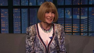 Anna Wintour on Late Night show