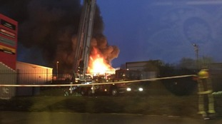 The fire on Bilston Street