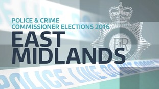 Interactive map showing East Midlands Police force areas contested in PCC Elections