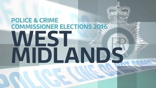 Interactive map showing Midlands Police force areas contested in PCC Elections