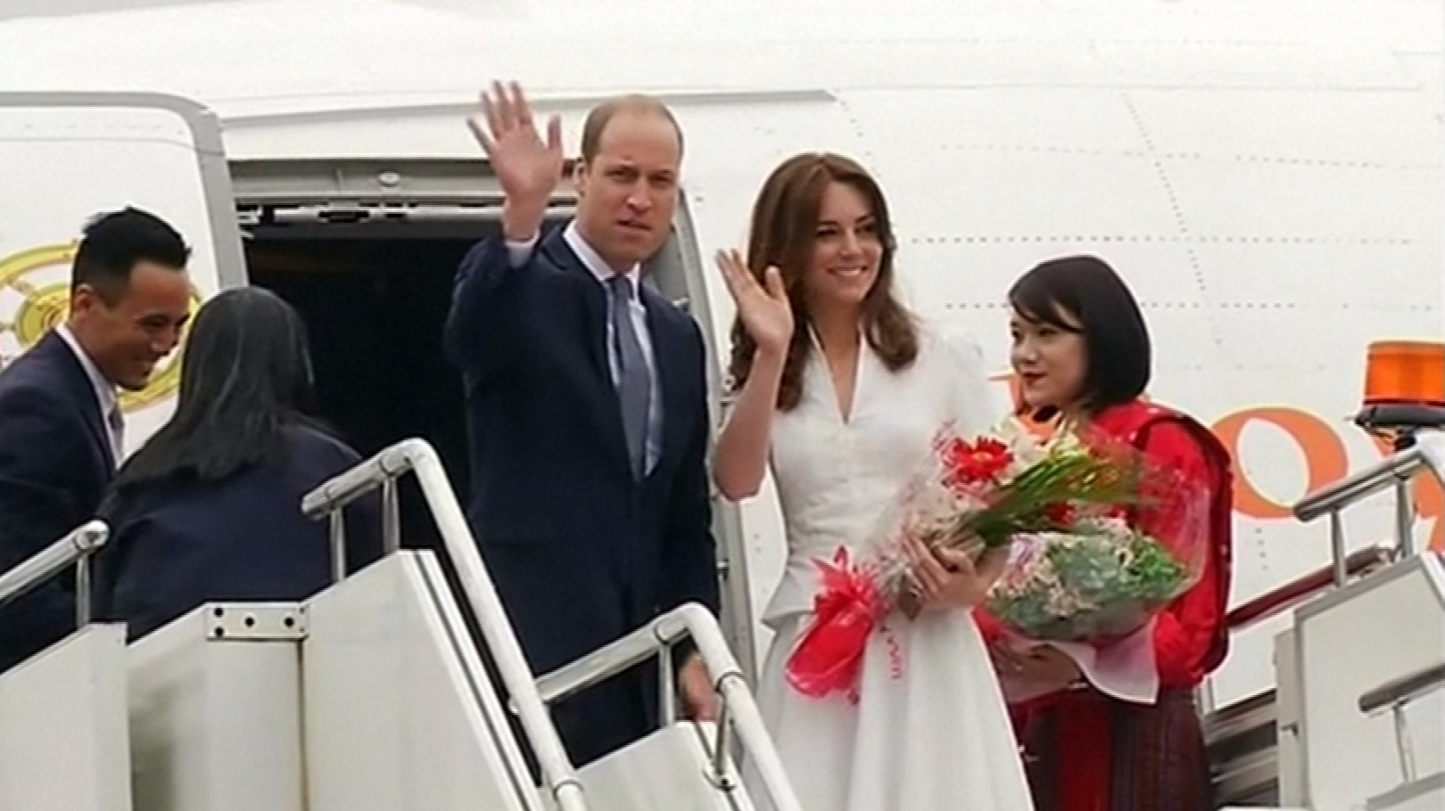 Duke and Duchess of Cambridge leave Bhutan