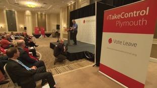 Tim Martin speaks at Vote Leave rally