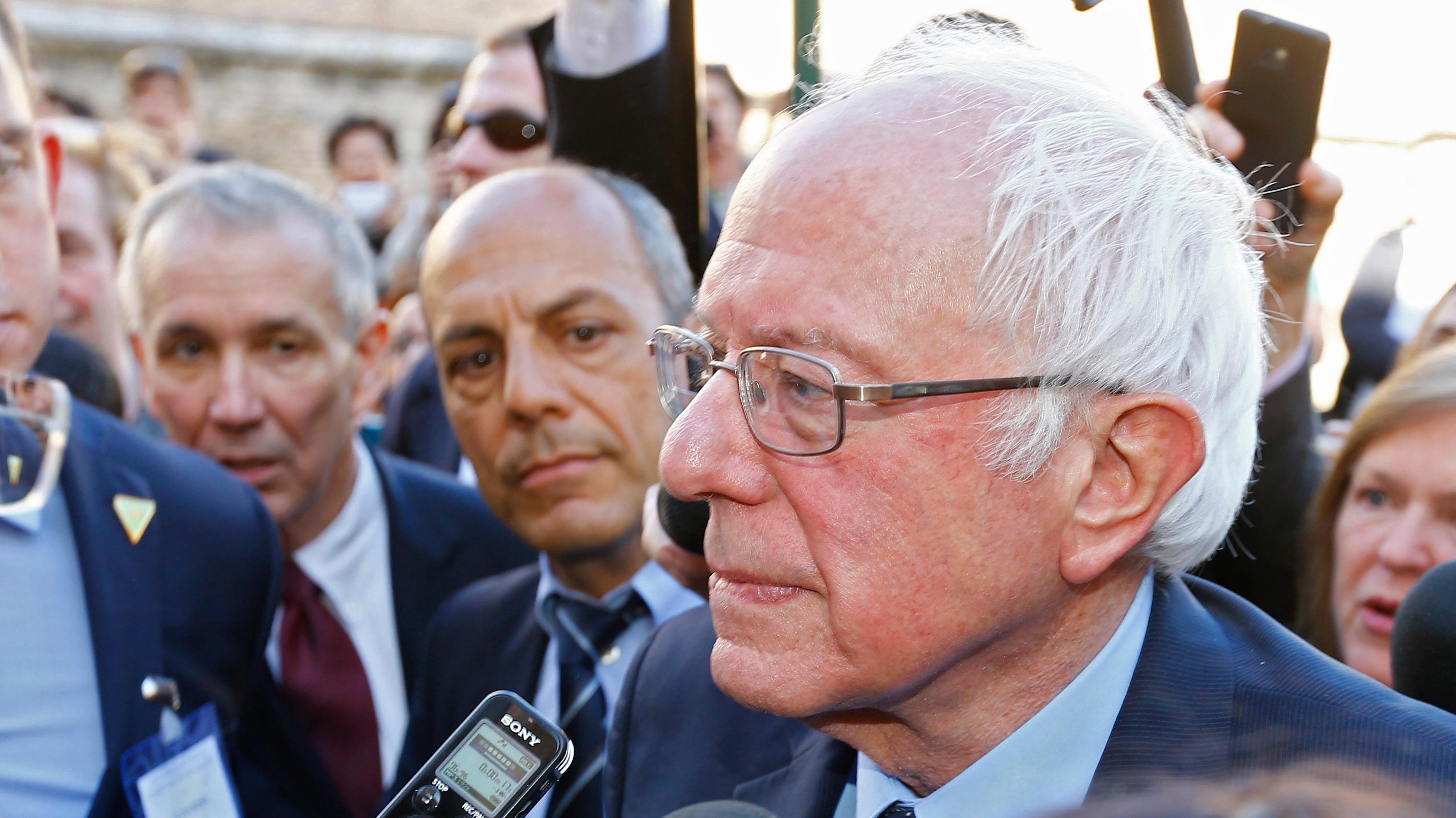 Pope says Bernie Sanders greeting was 'not political'