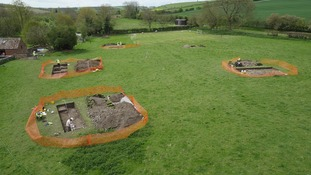 Roman Villa which was discovered by home owner Luke Irwin whilst he was laying electric cables
